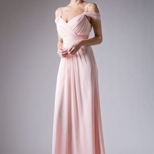 Blush Evening A-Line Long Dress
